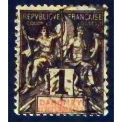 Dahomey (Dahome) YT 6 Obl