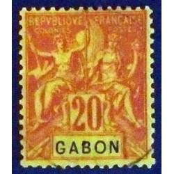 Gabon (Gabun) YT 22 Obl