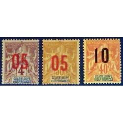 Guadeloupe YT 72-74 *